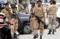کراچی ،رینجرز کا مختلف علاقوں میں سرچ آپریشن ،2 غیر ملکیوں سمیت 16افراد ..