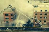 امریکا میں رہائشی عمارت دھماکے سے زمین بوس ہونے سے 2 خواتین ہلاک، متعدد ..