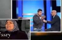 لبنان میں ناخلف لڑکے نے لائیو پروگرام میں ماں کو ٹھڈا ماردیا