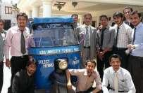 کراچی کی نجی یونیورسٹی کے طلبا نے سورج کی توانائی سے چلنے والا رکشا ..