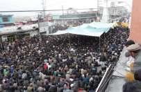 گلگت ، مظاہرین کے دھرنے ختم کرانے کیلئے صوبائی انتظامیہ اور عوامی ایکشن ..