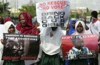 نائیجرین طالبات کے اغواء کے خلاف دنیا بھر میں ریلیاں،مشعل اوباما بھی ..