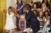 امریکہ،میچ جیتنے پر باسکٹ بال کھلاڑیوں سے تہنیتی ملاقات یادگار بن ..