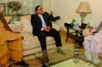 چودھری برادران کی آصف زرداری سے ملاقات، سیاسی معاملات پر گفتگو