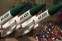 بھارت،جنگی جنون عروج پر،مسلسل دوسرے روز بھی آکاش میزائل کا تجربہ کر ..