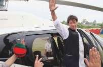 عمران خان نے وزیراعلیٰ خیبر پختونخوا کا ہیلی کاپٹر استعمال کرنے کا ..