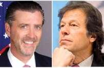 پی ٹی آئی کے چیئرمین عمران خان سے امریکی سفیر رچرڈ اولسن کی ملاقات، ..