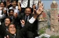 پاکستان بار کونسل انتخابات میں کامیاب امیدواروں کے حامیوں کی اندھا ..