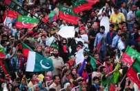گوجرانوالہ میں پاکستان تحریک انصاف کے زیر اہتمام جلسہ عام میں شہریوں ..