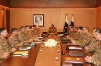آرمی چیف کا شمالی وزیرستان اورخیبر ایجنسی میں جاری فوج آپریشنزپر مکمل ..