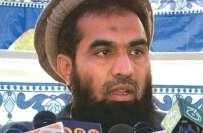 ممبئی حملہ کیس : ذکی الرحمان لکھوی 16ایم پی او کے تحت نظر بند ،
