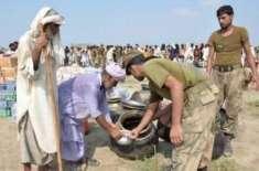 پاک فوج کا تھر متاثرین کیلئے ایک دن کا راشن عطیہ کرنے کا اعلان