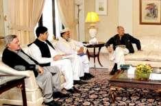 حکومتی کمیٹی کے ارکان کی وزیر داخلہ سے ملاقات ، طالبان شوری ٰسے ہونے ..