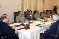 قومی سلامتی پر سیاسی اور عسکری قیادت کا اجلاس، امن مذاکرات پر تبادلہ ..