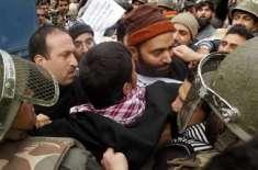 پولیس کا یاسین ملک اور ان کے ساتھیوں پر تشدد'گرفتار کر لیاگیا،کئی ..
