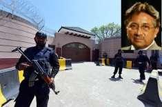 پرویز مشرف کے چک شہزاد فارم ہاوٴس میں واقع مکان کے گرد بم حملے سے محفوظ ..