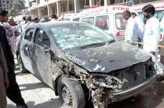 گزری بم دھماکہ دہشت گردوں کا ہدف امام بارگاہ سے نمازیوں کو لے جانیوالی ..