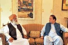 نوازشریف سے مولانا فضل الرحمن کی جاتی امراء میں ملاقات