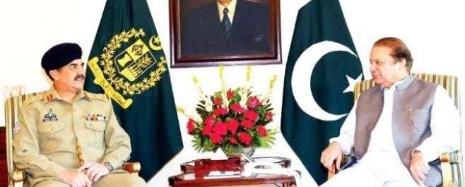 وزیر اعظم نواز شریف کی آرمی چیف جنرل راحیل شریف سے ملاقات، سیکیورٹی ..