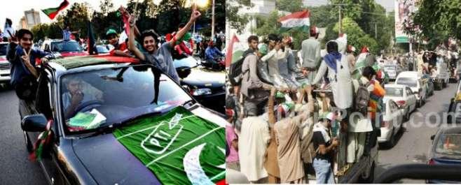 عمران خان کی قیادت میں تحریک انصاف کا آزادی مارچ، طاہر القادری کی قیادت ..