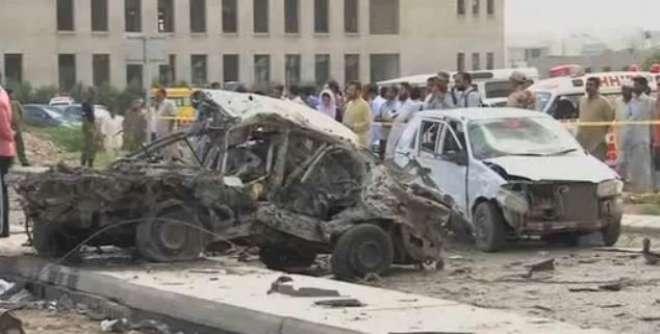 دھماکہ خیزموادسے بھری پک اپ کو چوہدری اسلم کی گاڑی سے ٹکرایا گیا ،کراچی ..