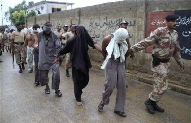 کراچی، ٹارگٹڈ آپریشن میں مفرور ملزموں سمیت 24 گرفتار،اسلحہ برآمد