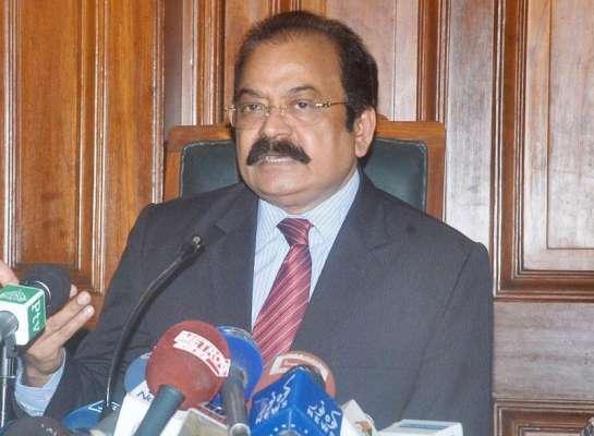حکومت نے پنجاب میں دہشتگردوں کے بڑے نیٹ ورک ختم کر دیئے ' وزیر قانون ..