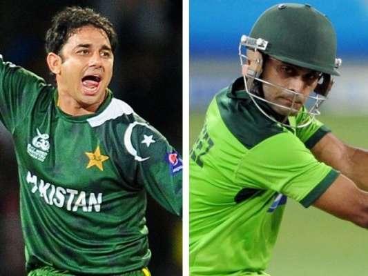 قومی کرکٹرز سعید اجمل اور محمد حفیظ نے مستقبل کے اسٹار زکھلاڑیوں کی ..