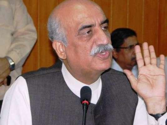 فوج کو احساس ہے کہ جمہوریت ہی پاکستان کیلئے صحیح راستہ ہے ، خورشید شاہ