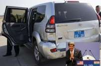 امریکہ کے وزیر خارجہ گاڑی کو حادثہ ، جان کیری محفوظ رہے ،