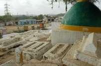 کراچی :منگھوپیر قبرستان سے2 بچوں کی لاشیں نکالنے کا انکشاف