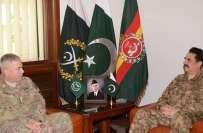 آرمی چیف جنرل راحیل شریف سے افغانستان میں امریکی فوج کے کمانڈر جنرل ..