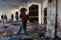 خودکش حملے کا نشانہ بننے والی امامیہ مسجد کی صفائی کا کام شروع