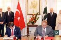 پاکستان اور ترکی نے آزادانہ تجارت سمیت مختلف معاہدوں پر دستخط کر دیئے ..