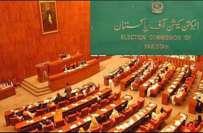 سینیٹ الیکشن،الیکشن کمیشن نے مختلف سیاسی جماعتوں سے تعلق رکھنے والے ..