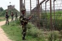 بھارتی فوج کی نکیال سیکٹرپر ایل اوسی اور ہرپال سیکٹر پرورکنگ باؤنڈری ..