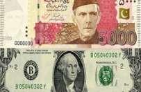 انٹربینک ا ورمقامی اوپن کرنسی مارکیٹ میں روپے کے مقابلے ڈالر کی قدر ..