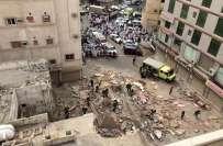 سعودی عرب کے دارلحکومت ریاض میں کنونشن سینٹر کی زیر تعمیر عمارت گرنے ..