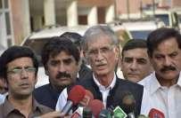 پشاور،وزیراعلی پرویزخٹک نے بارشوں میں متاثرہ مکانوں کے معاوضے کو بڑھانے ..