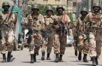 رینجرز کا کراچی کے علاقے شاہ فیصل میں ایم کیو ایم کے یونٹ آفس 106 پر چھاپہ