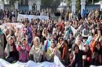 لاہور،مال روڈ پر احتجاج میں شریک600اساتذہ کو شو کاز نوٹسز جار ی