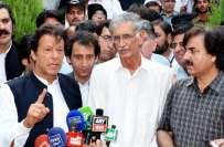 پارلیمنٹ کے باہر دھرنا جلدی ختم کرنے پر عمران خان پرویز خٹک پر برہم