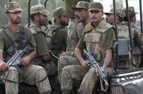 شمالی وزیرستان غلام خان میں جھڑپ ،2سیکورٹی اہلکار شہید ، 1زخمی