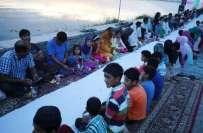 مقبوضہ کشمیر: ایشیا کی سب سے بڑی افطار پارٹی کا نیا ریکارڈ