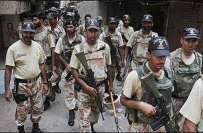 رینجرز کی کراچی کے علاقے غلام شاہ لین میں کاروائی، کالعدم لیاری گینگ ..
