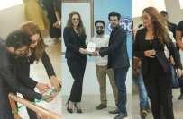 کراچی یونیورسٹی میں ایان علی کو مدعو کرنے والے طالب علم عاریب کا داخلہ ..
