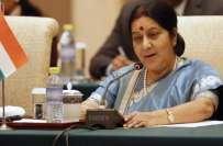 پاکستان کے ساتھ صرف جنگ واحد راستہ نہیں،سشما سوراج