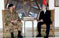 جنرل راحیل شریف کی افغان سیاسی اور عسکری قیادت سے ملاقاتیں ، طالبان ..