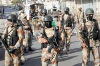 کراچی،پاکستان رینجرز سندھ کی کارروائی 10 مشتبہ افراد گرفتار