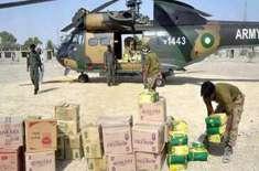 پاک فوج نے تھرپارکر میں قحط سے متاثرین کیلئے امدادی سامان روانہ کردیا